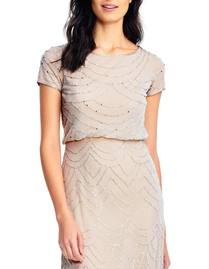 Short Sleeve Beaded Maxi Dress image 4