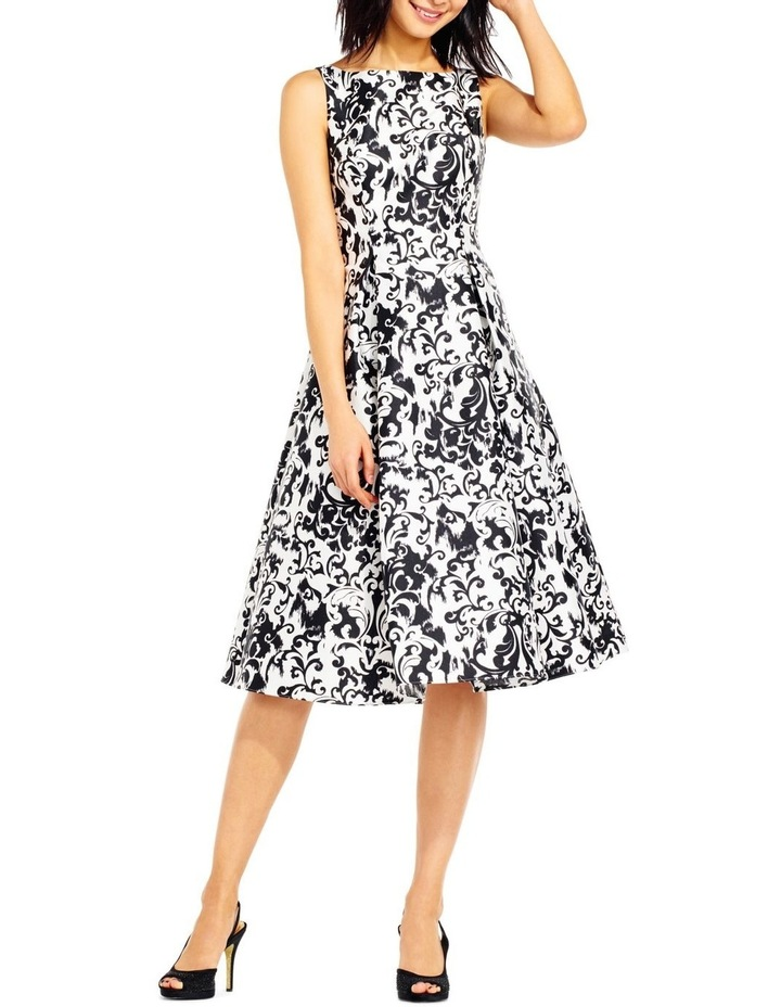 Sleeveless Print Mikado Party Dress image 1