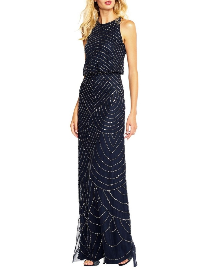 Beaded Halter Gown image 4