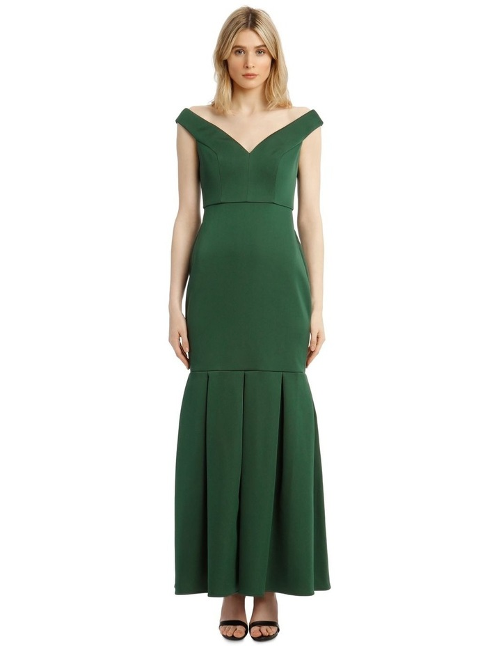 Eve Off-Shoulder Maxi Dress with Pleated Hem image 1