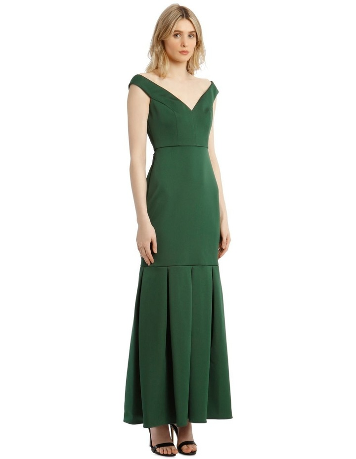 Eve Off-Shoulder Maxi Dress with Pleated Hem image 2