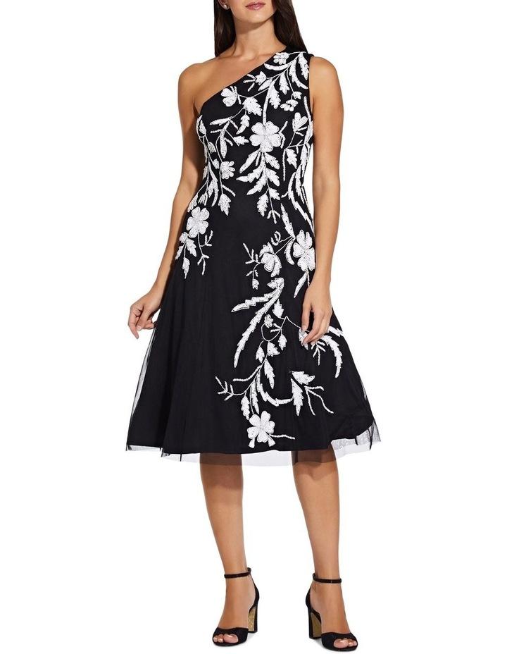 Beaded One Shoulder Dress image 1