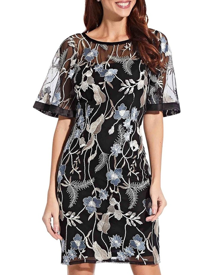 Embroidered Flare Sleeve Dress image 1
