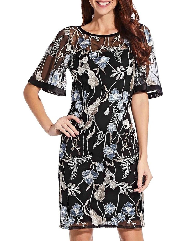Embroidered Flare Sleeve Dress image 2