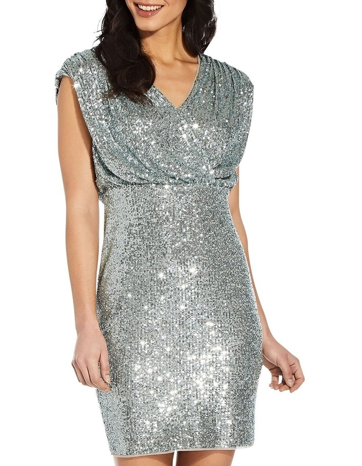 Sequin Blouson Sheath Dress image 1