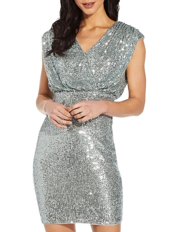 Sequin Blouson Sheath Dress image 2