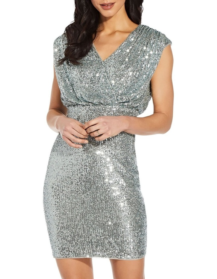 Sequin Blouson Sheath Dress image 3
