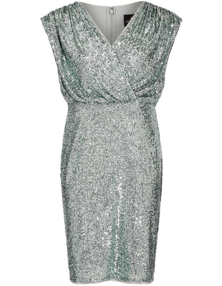 Sequin Blouson Sheath Dress image 4