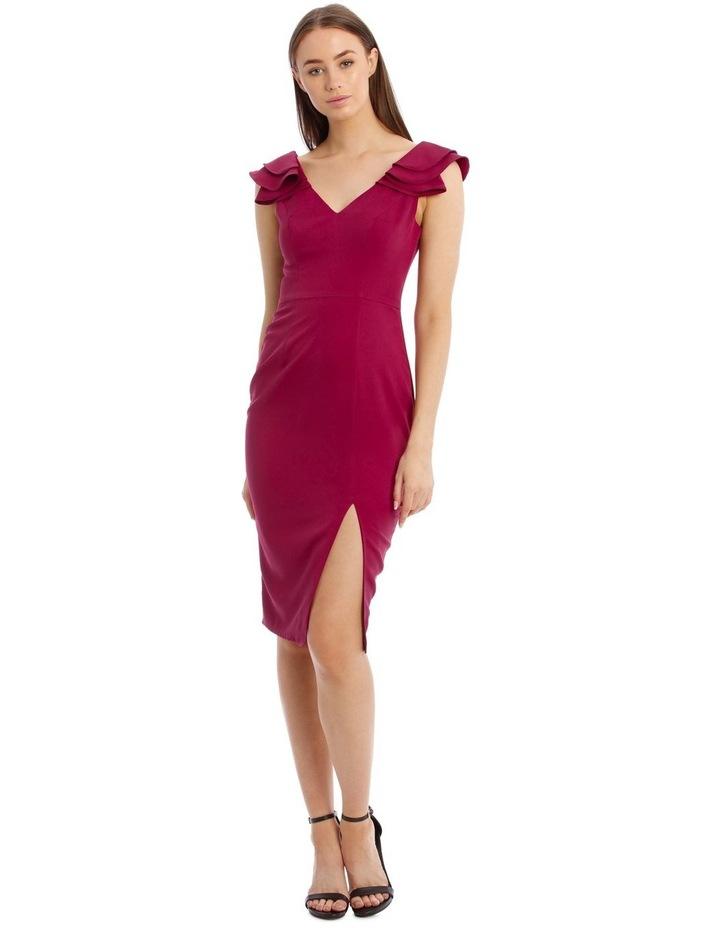 Leilani Frill Shoulder Midi Dress image 1