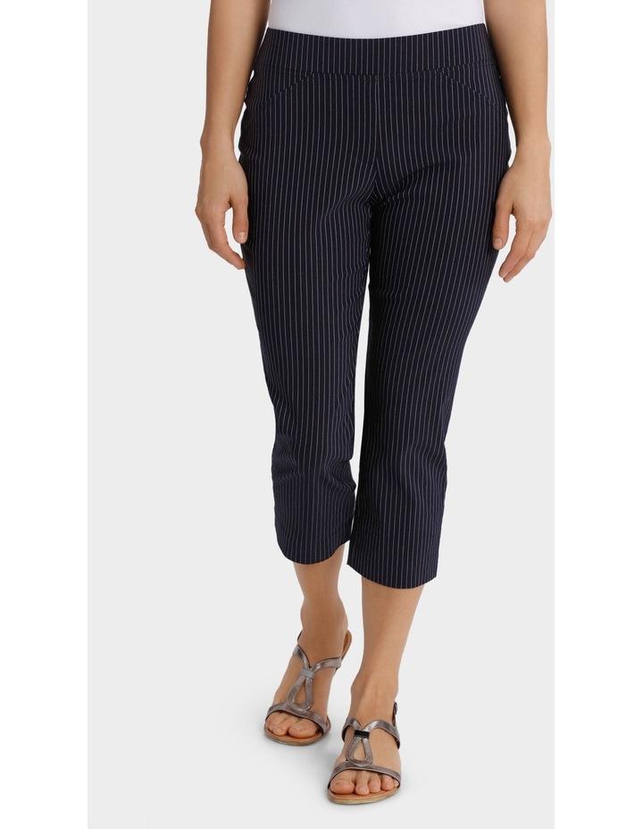 Essential Stretch Stripe Crop Pant image 1