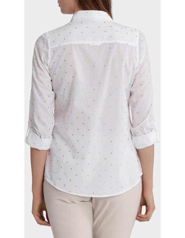 Must Have Foil Cotton 3/4 Sleeve Shirt image 3