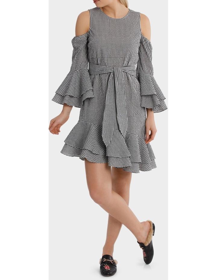 Multi Ruffle Gingham Dress image 1