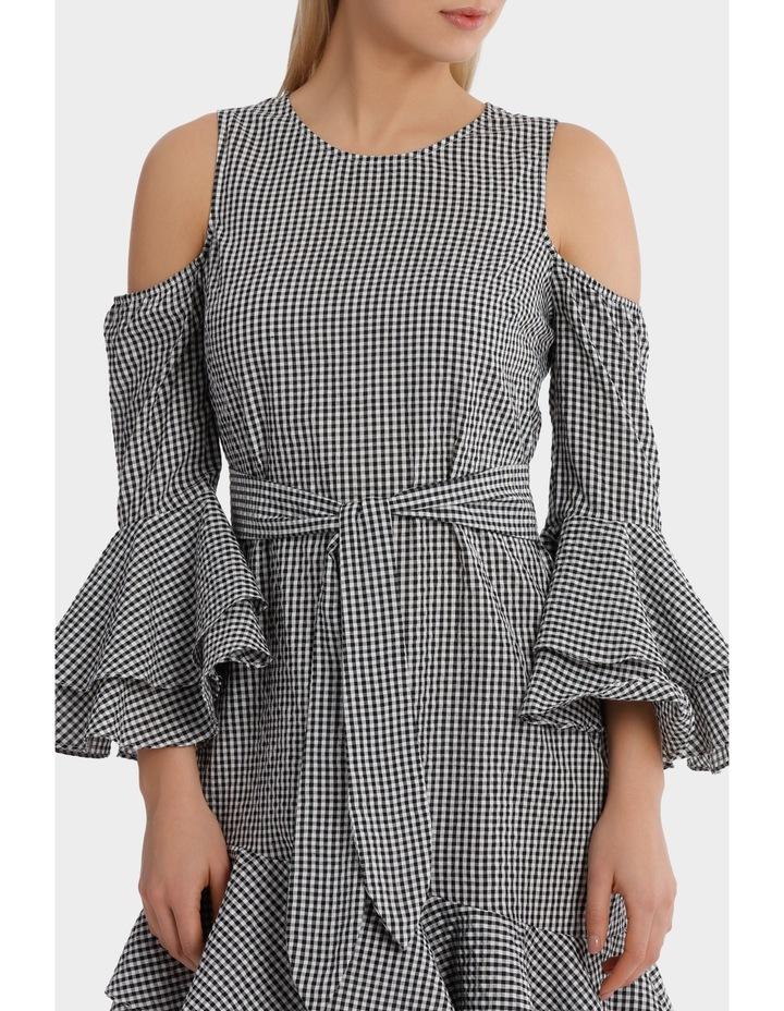Multi Ruffle Gingham Dress image 4
