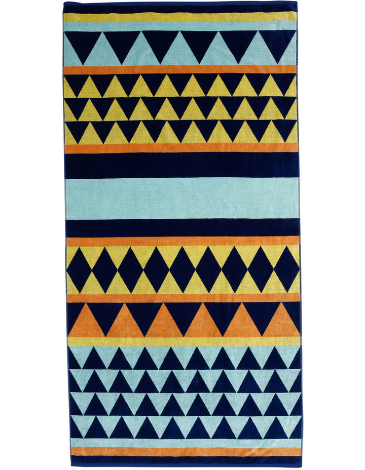 Peninsular Print Beach Towel: Mazo in Multi image 1