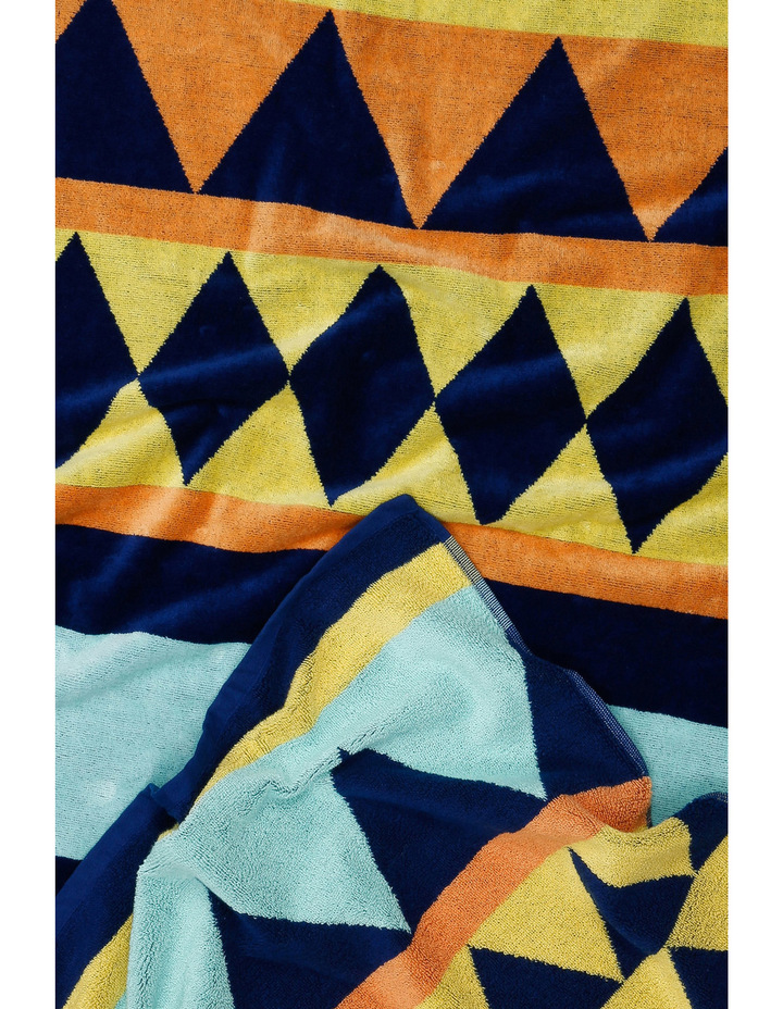 Peninsular Print Beach Towel: Mazo in Multi image 2