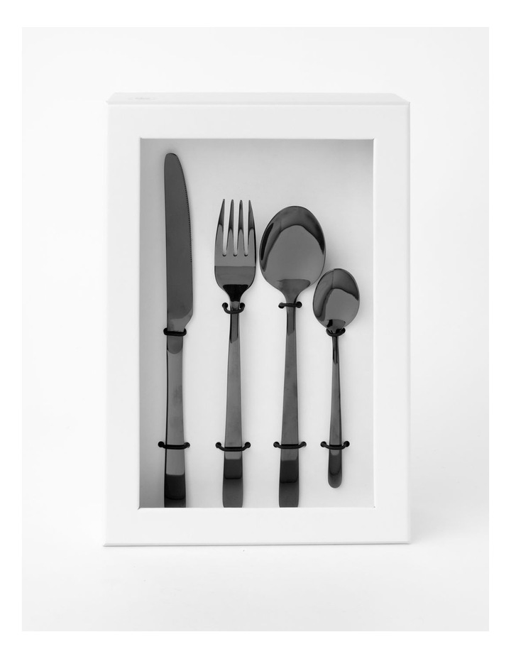 Riley 16pc Shiny Black Cutlery image 3