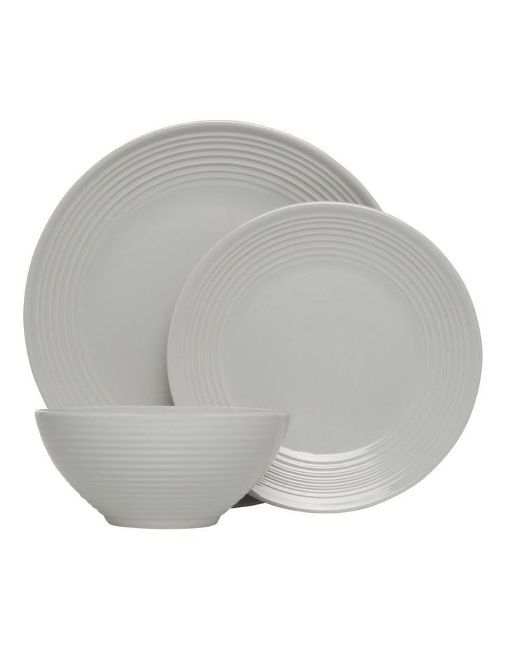 Austin Ridged Rim Stoneware 12 Piece Dinnerset - Grey image 1