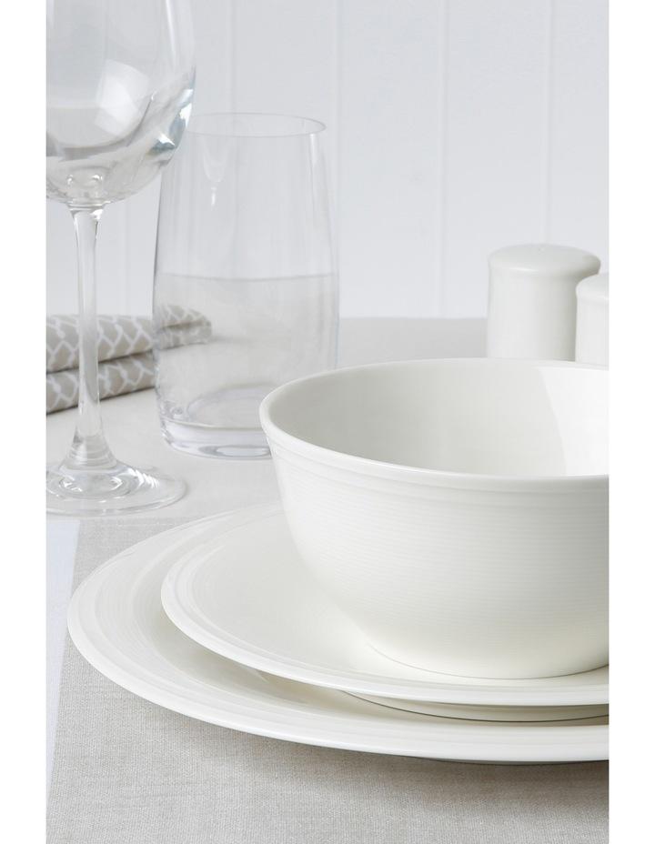 Rhythm Porcelain China 12 Piece Dinner Set - White