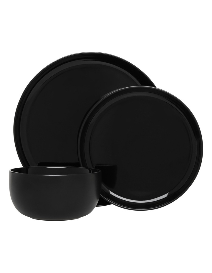 Nest Stoneware High Coupe 12 Piece Dinner Set - Black image 1