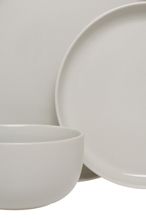Vue - Nest Stoneware High Coupe 12 Piece Dinner Set - Grey