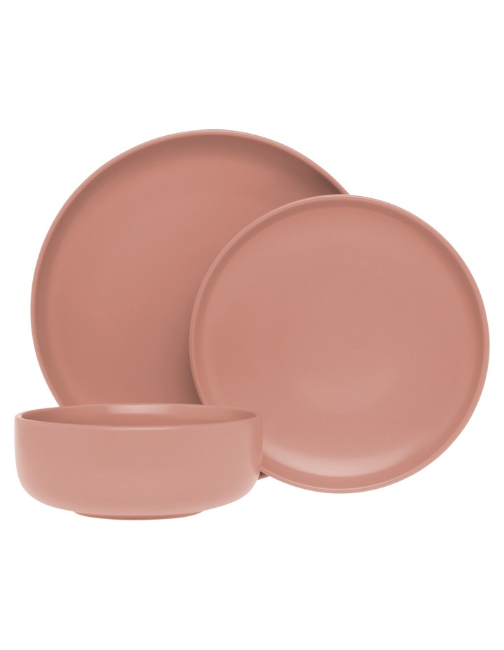 Western Stoneware High Coupe 12pc Dinner Set Pink image 1