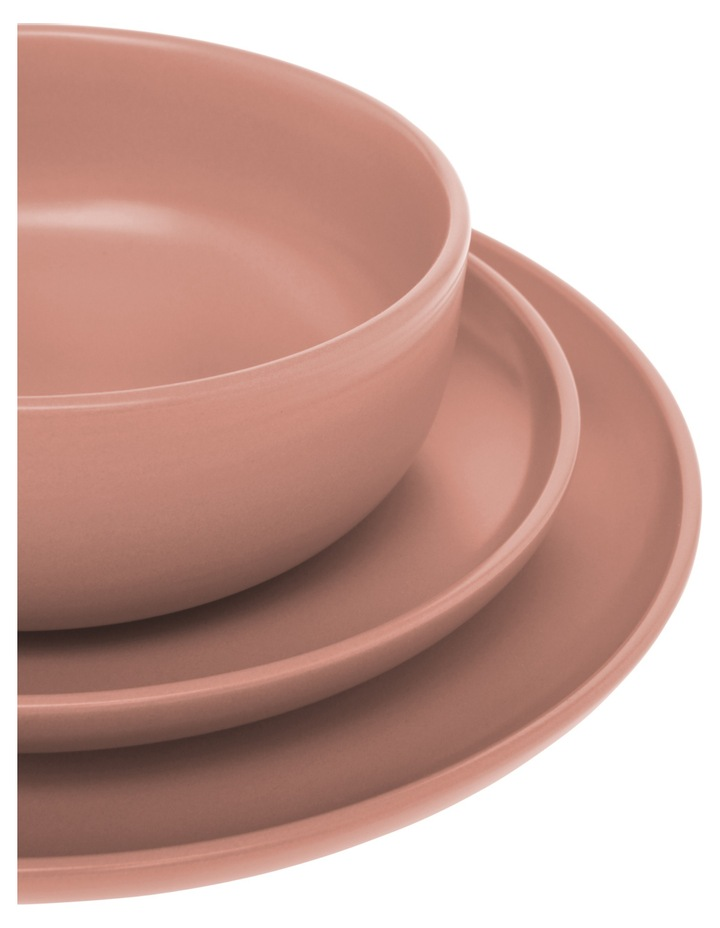 Western Stoneware High Coupe 12pc Dinner Set Pink image 2