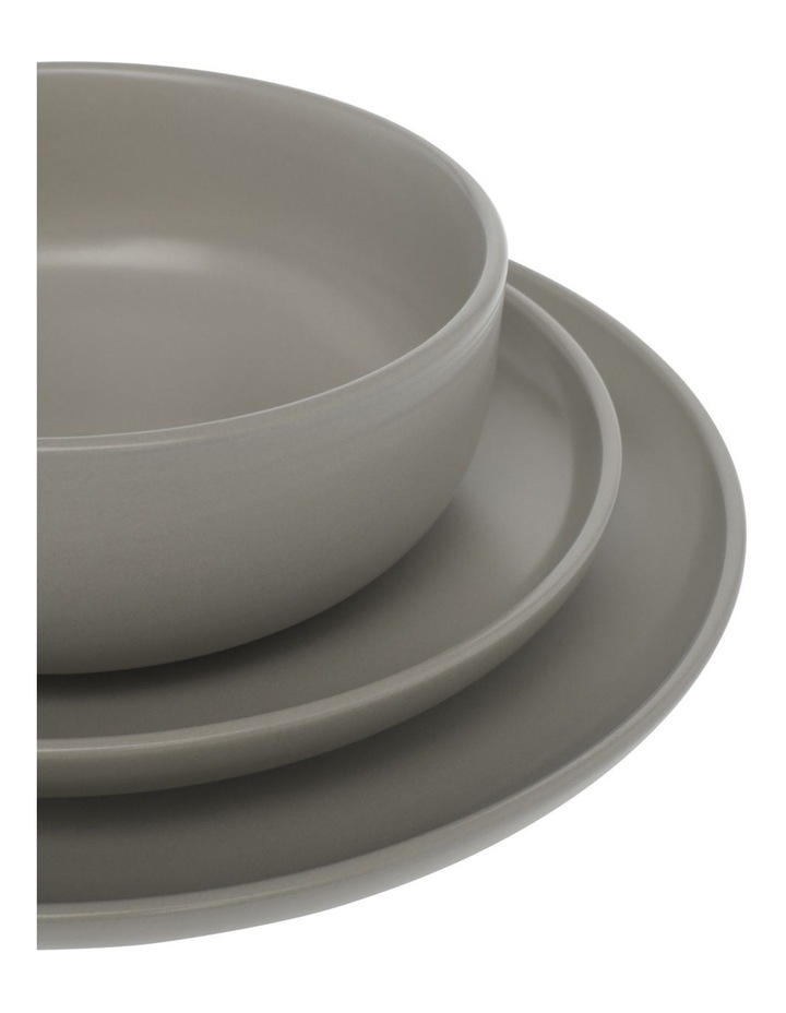 Western Stoneware High Coupe 12pc Dinnerset Grey image 2