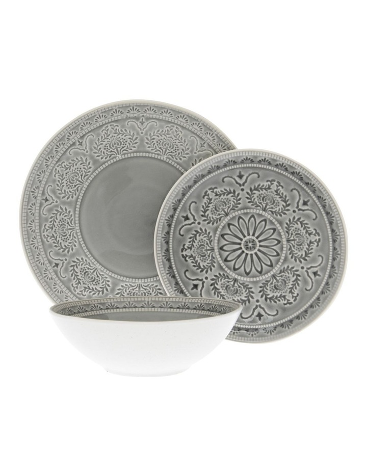 Heliconia 12Pc Dinner Set Grey image 1