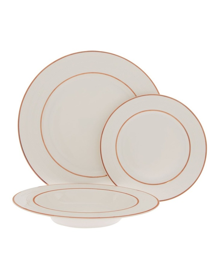 Luxe Christmas Rose Gold Rimmed 12 Piece Dinner set image 1