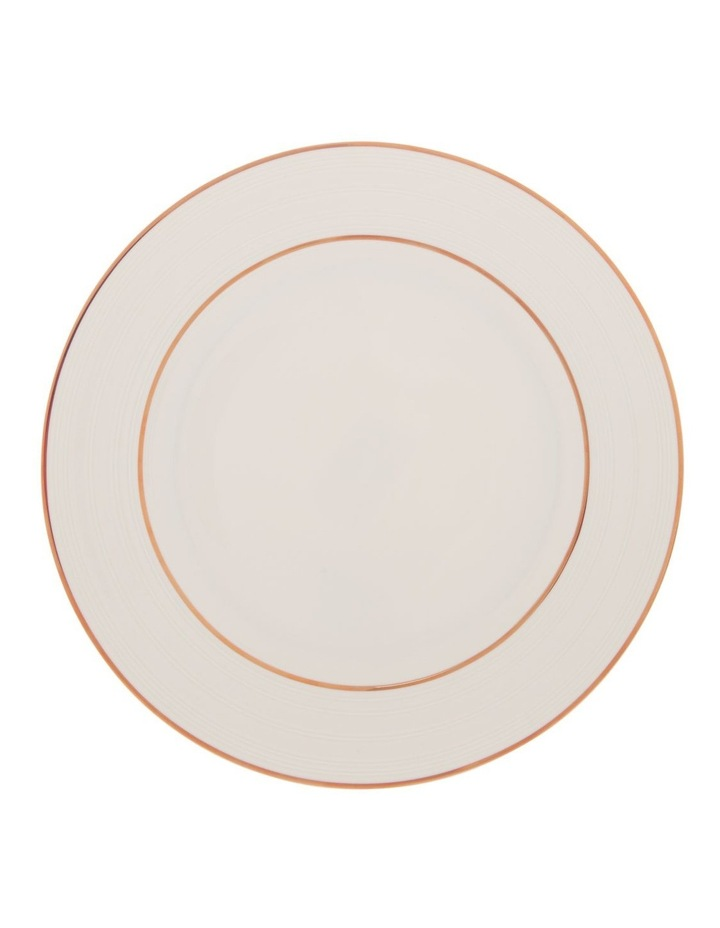 Luxe Christmas Rose Gold Rimmed 12 Piece Dinner set image 2