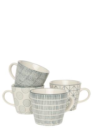 Heritage - Bambara 4 Piece Mug Set