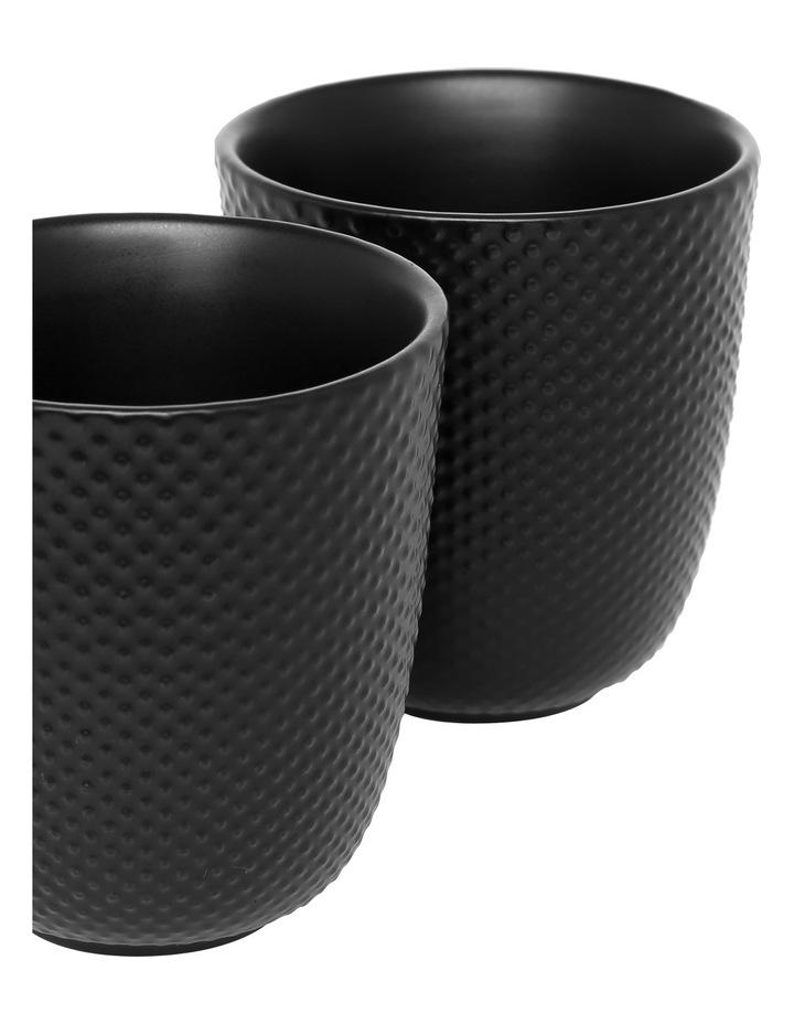 Iksan Stoneware Tea Cup  Set of 4 - Matte Black image 2