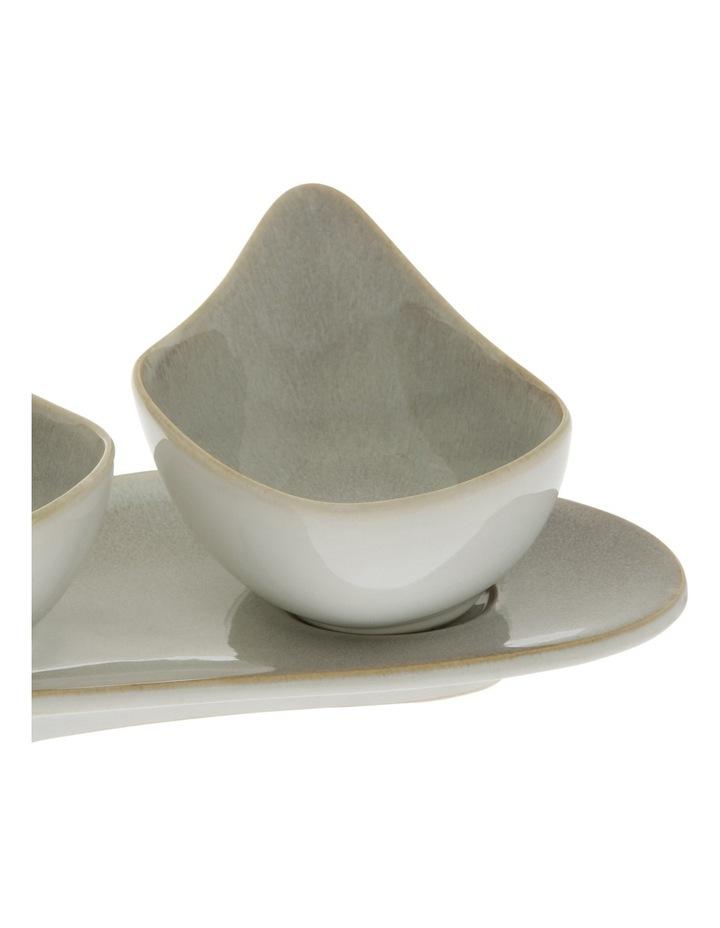 Reactive Glaze Stoneware Set of 4 Dishes image 2