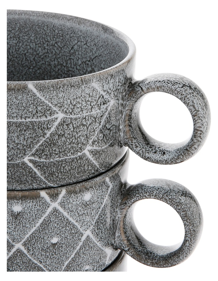 Tribal Geo Reactive Glaze Soup Mug 4pc image 4