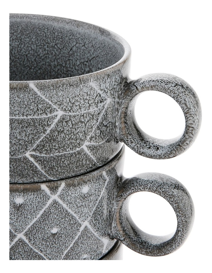Tribal Geo Reactive Glaze Soup Mug 4pc image 3