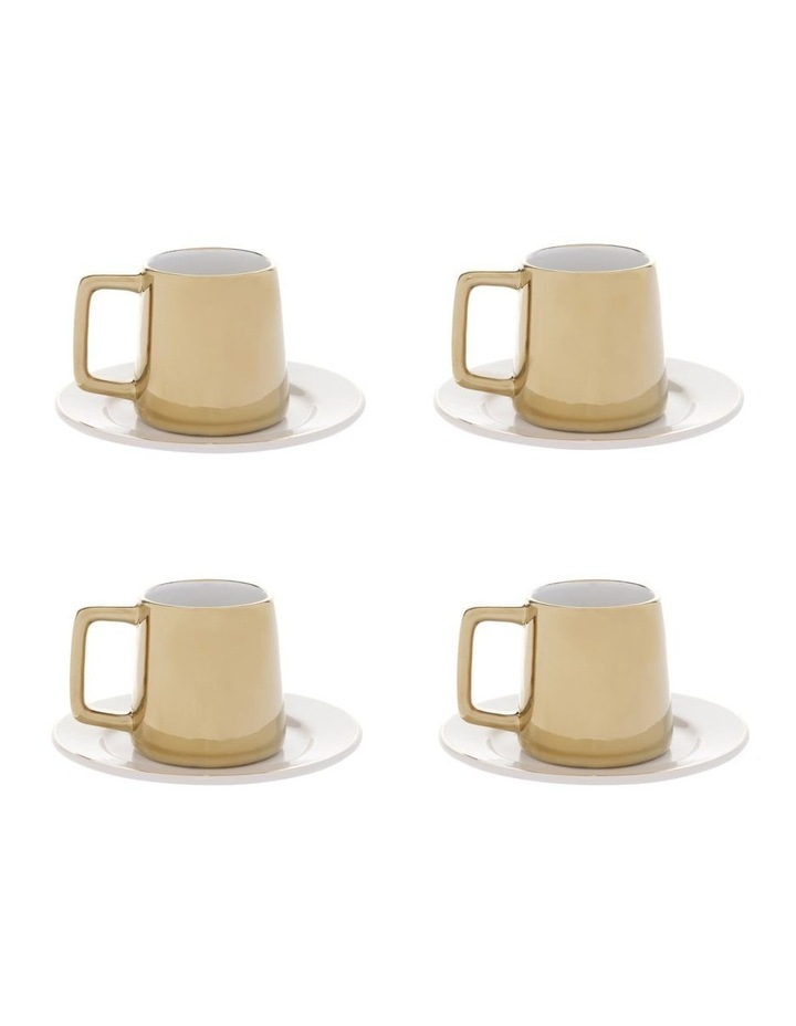 Opulence Cup and Saucer 4-Pack - Gold image 1