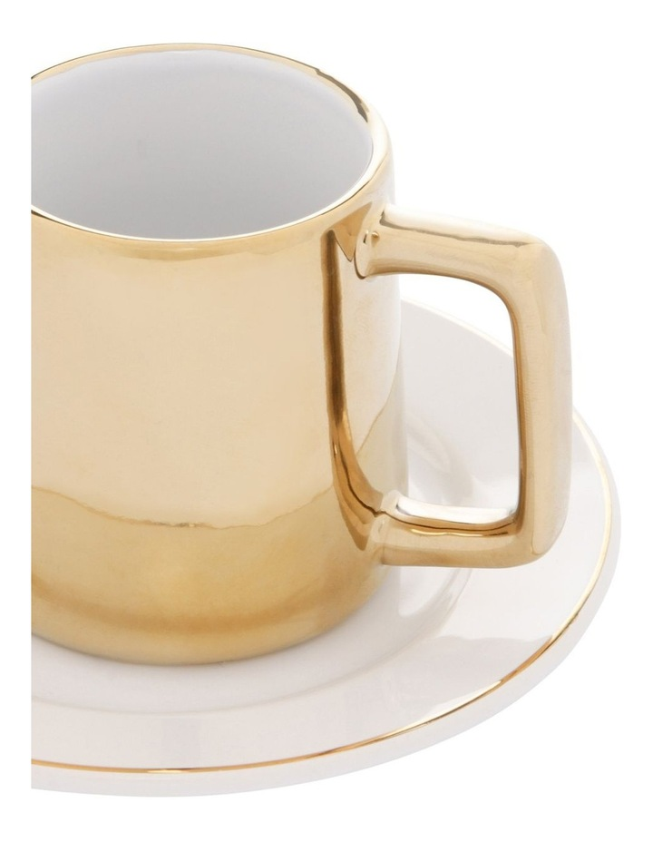 Opulence Cup and Saucer 4-Pack - Gold image 2