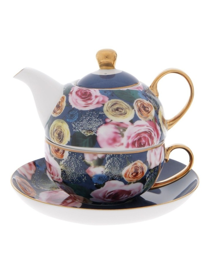 Florence Floral Tea for 1 in Navy image 1