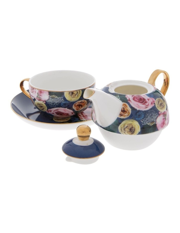 Florence Floral Tea for 1 in Navy image 2