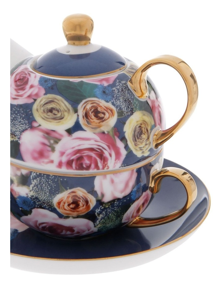Florence Floral Tea for 1 in Navy image 3