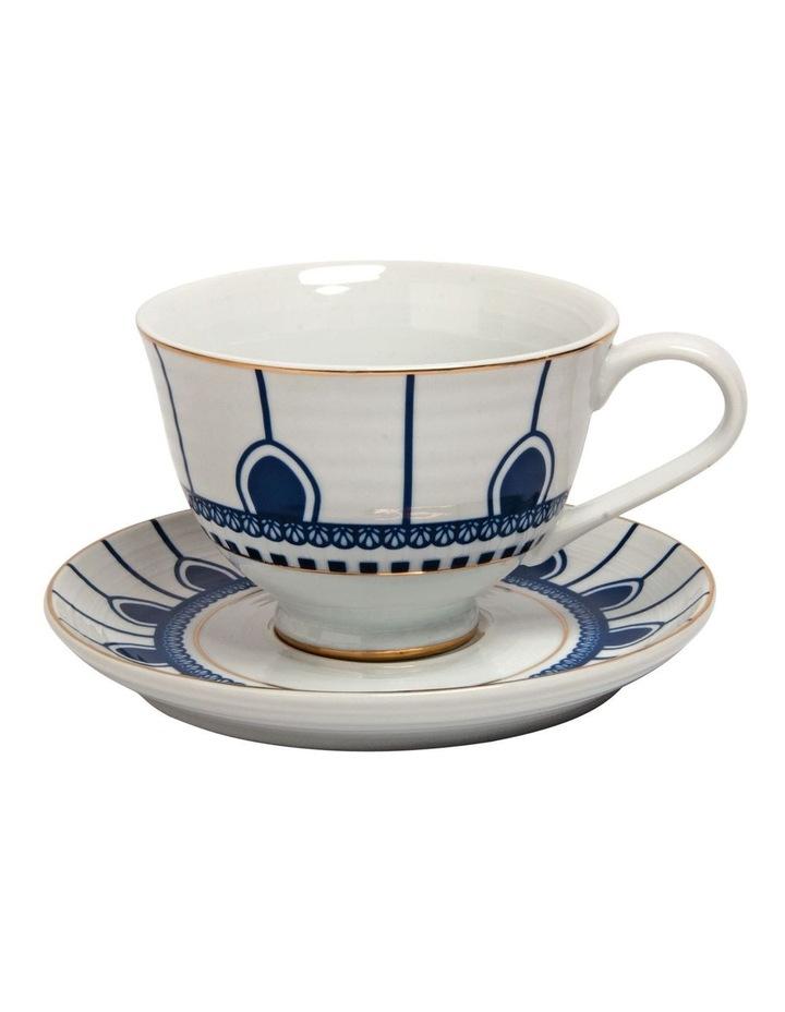 Floral Sprig Tea Cup & Saucer image 1