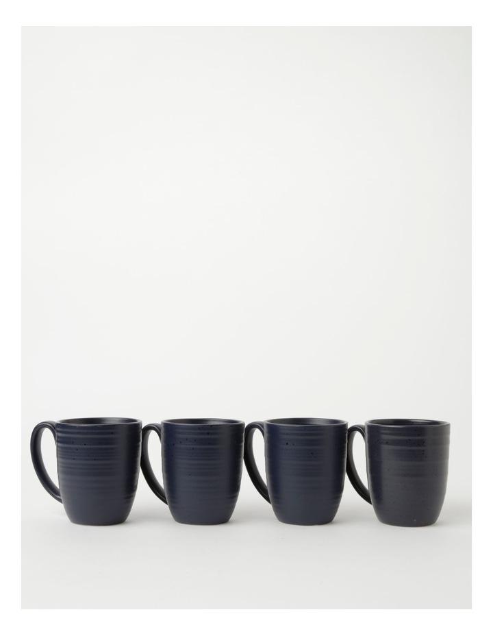Desert Bloom Set of 4 Mugs in Midnight Blue image 1