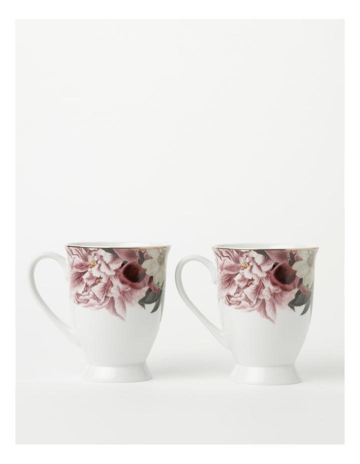 Botanical Pink Mug set of 2 image 1