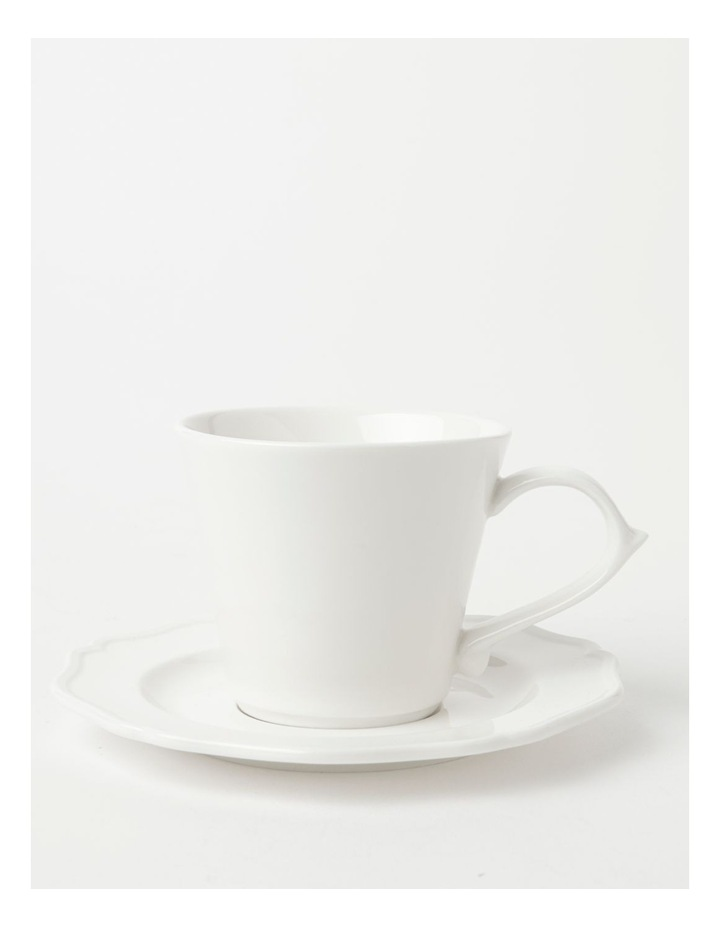Heritage Scalloped Cup & Saucer in White image 1