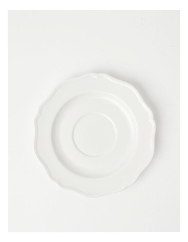Heritage Scalloped Cup & Saucer in White image 3