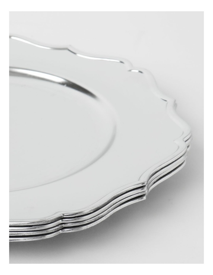 Heirloom Charger Plate Set of 4 Silver Scalloped Edge image 2
