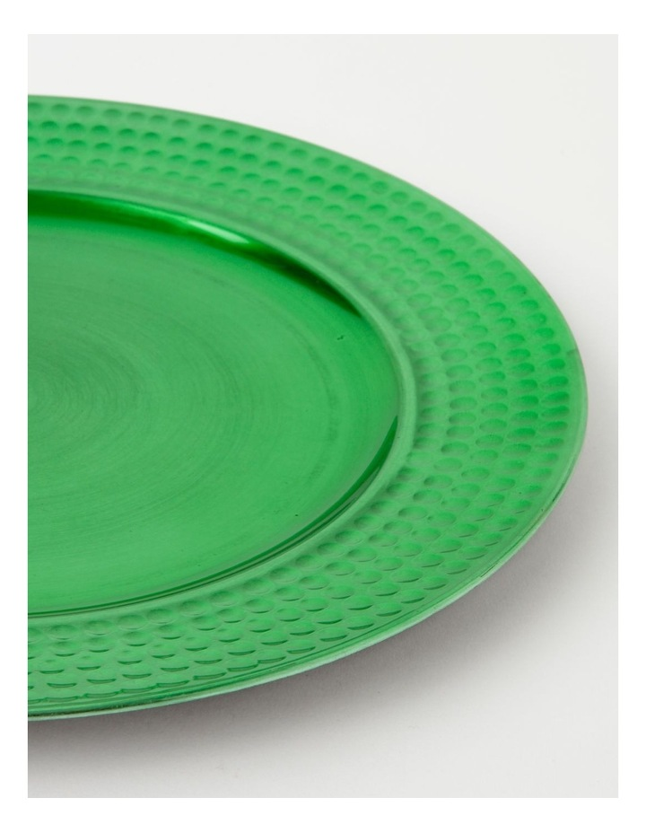 Heirloom Charger Plate Set of 4 Green Hammered Edge image 2