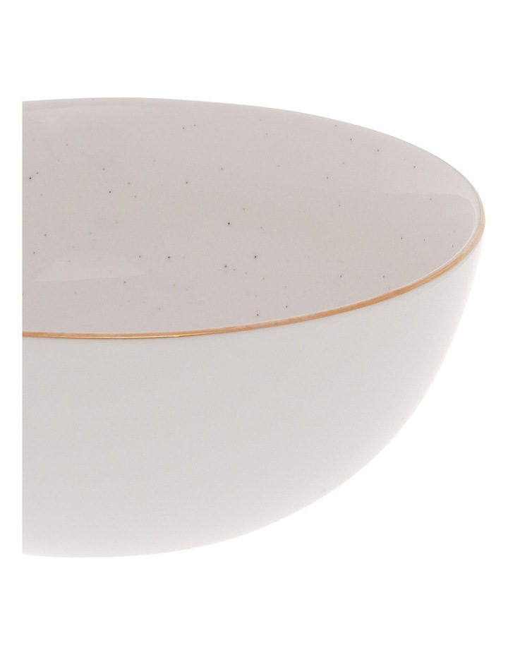 Porcelain Organic Shape Rimmed Bowl 22cm image 2