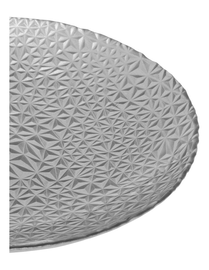 Geo Metallic Bowl 30cm Silver image 2