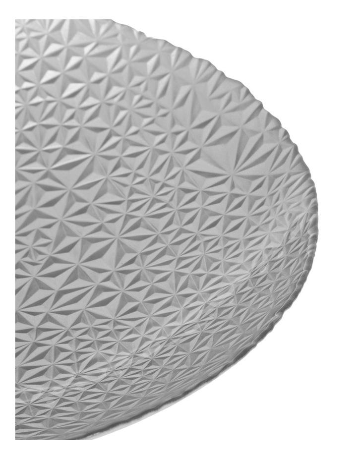 Geo Metallic Shallow Bowl 40cm Silver image 2